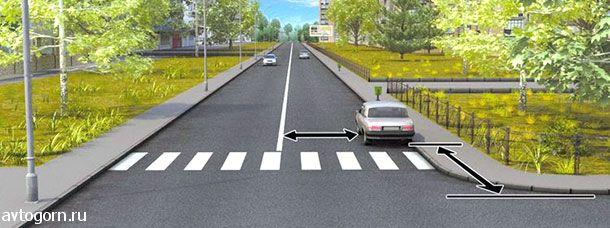 В каком случае водителю разрешается поставить автомобиль на стоянку в указанном месте