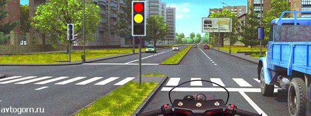 При включении зеленого сигнала светофора Вам следует