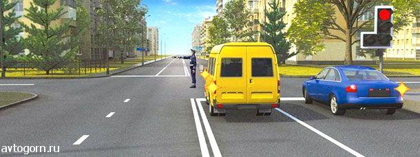 Каким транспортным средствам разрешено продолжить движение