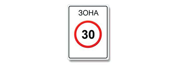 До какого места действует требование данного знака ограничение максимальной скорости