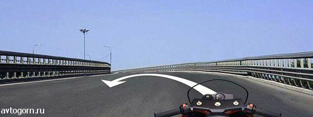 Разрешено ли Вам выполнить разворот на мосту по указанной траектории