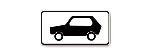 Табличка легковые и грузовые до 3,5 тонн распространяет действие установленного с ней знака