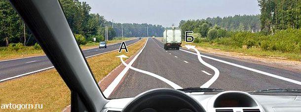 В каком из указанных мест Вам разрешено пересечь сплошную линию разметки и остановиться