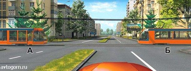 Вы намерены проехать перекресток в прямом направлении. Кому Вы обязаны уступить дорогу