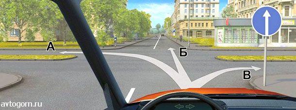 Вам можно продолжить движение на перекрестке