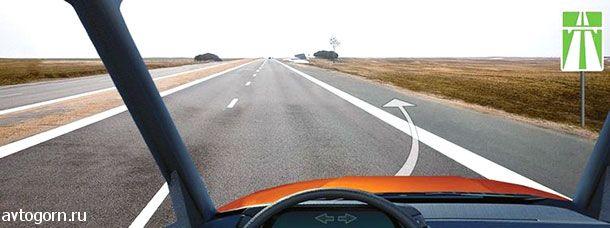 Разрешено ли Вам остановиться на автомагистрали правее линии, обозначающей край проезжей части