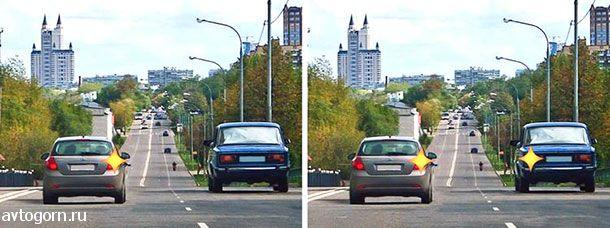 Двигаясь по левой полосе, водитель намерен перестроиться на правую. На каком из рисунков показана ситуация, в которой он обязан уступить дорогу