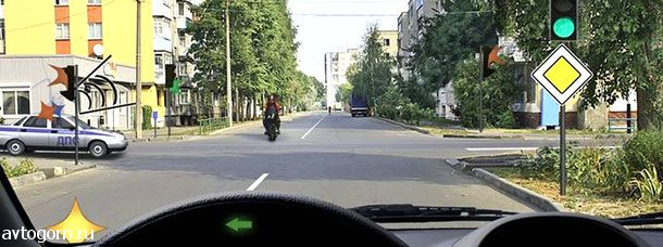 Кому Вы должны уступить дорогу при повороте налево