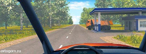 Должны ли Вы уступить дорогу грузовому автомобилю в данной ситуации