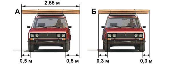 На каком рисунке изображен автомобиль, водитель которого нарушает правила перевозки грузов