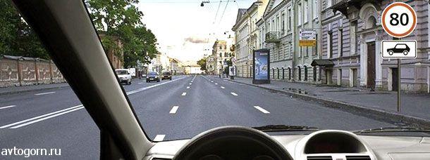 С какой максимальной скоростью Вы имеете право продолжить движение на грузовом автомобиле с разрешенной максимальной массой не более 3,5 т