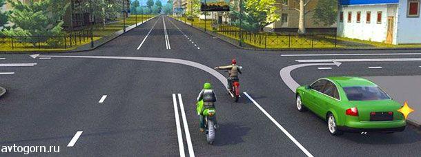 Кто из водителей нарушает правила поворота на перекрестке