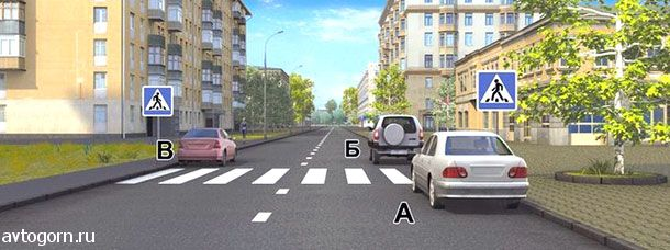 Водители каких автомобилей нарушили правила остановки