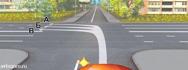 Вам можно продолжить движение при повороте налево