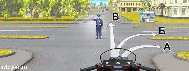 При таком сигнале регулировщика можно ли Вам повернуть направо