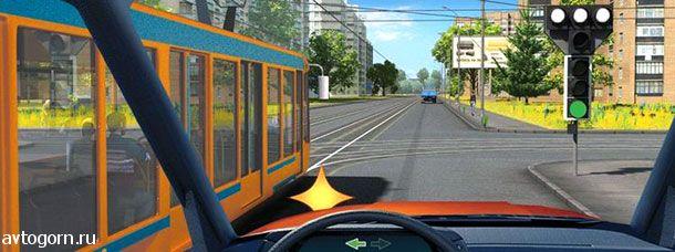 Cигналы светофора для трамвая.