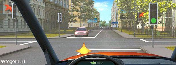 Как Вам следует поступить при повороте налево