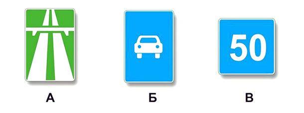Какие из указанных знаков запрещают движение транспортных средств, скорость которых по технической характеристике или их состоянию менее 40 км/ч