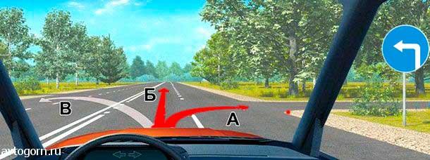 Предписывающие знаки дорожного движения картинки с пояснениями. знак движение налево