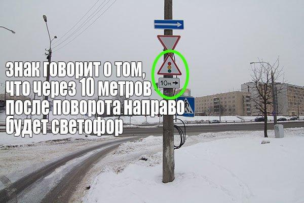 Знаки предупреждающие дорожного движения